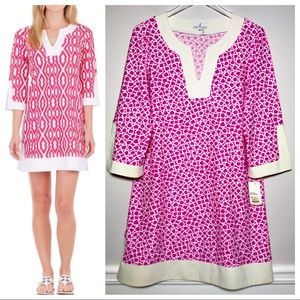 NWT Jude Connally Holly Dress Pink Pebbles Print